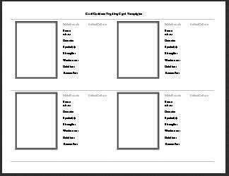 trading card template printable god goddess trading card template free