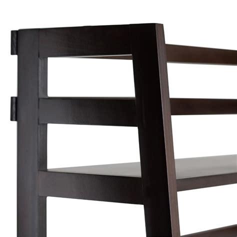 Brown Shelf by Ladder Shelf Bookcase In Tobacco Brown Axss008kd