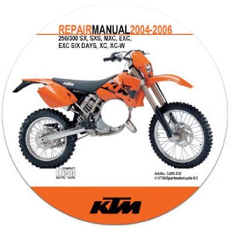 2006 Ktm 300 Xc W 2004 2006 Ktm 250 300 Sx Sxs Mxc Exc Exc Sixdays Xc Xc W