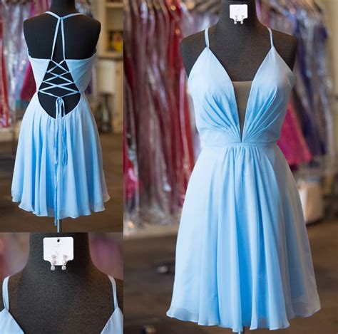 light blue graduation dress light blue homecoming dresses prom dresses 2017 open