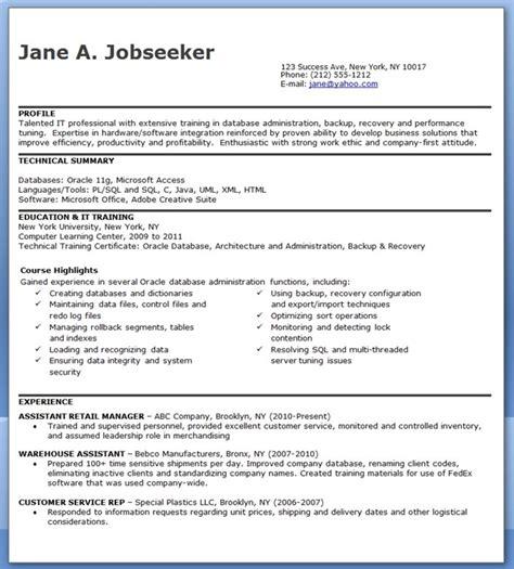 Database Administrator Resume Entry Level Resume Downloads
