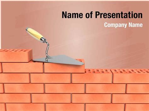 Bricks Wall Construction Powerpoint Templates Bricks Wall Construction Powerpoint Backgrounds Wall Powerpoint Template