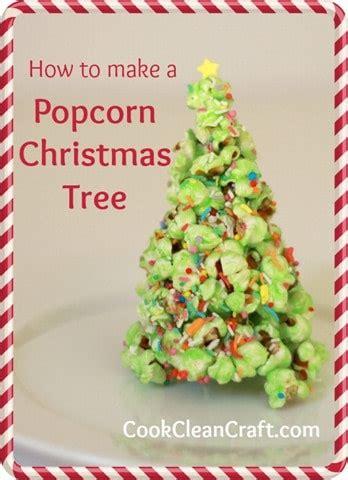 popcorn christmas tree tutorial cook clean craft