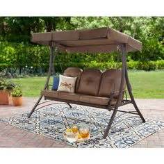 Patio Swing Big Lots I Found A Sonoma Resin Wicker 3 Person Canopy Swing At Big