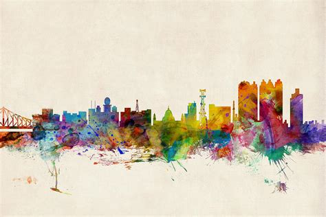 design art kolkata calcutta india skyline digital art by michael tompsett