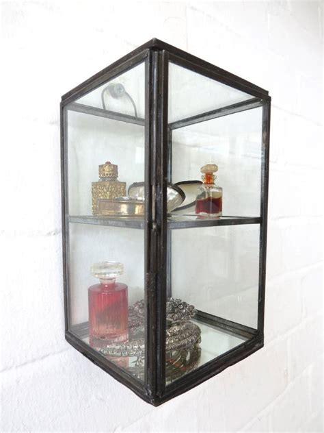 curio display wall cabinet wall display cabinet trinket curio mirrored wall shelf