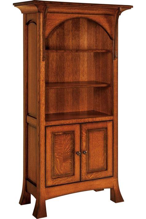 breckenridge bookcase with bottom cabinet doors