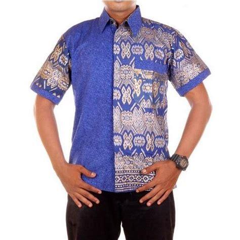 Kemeja Atasan Batik baju atasan pria hem kemeja motif batik yohanz
