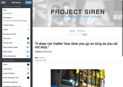 Tumblr Themes With Search Bar | project siren tumblr