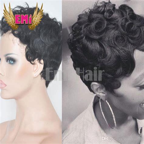 cheap hair extensions for pixie cuts human hair short curly wigs for black women cheap full