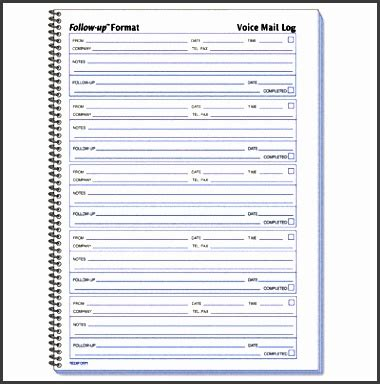 best photos of telephone log book voice message log book