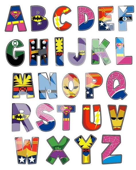 printable superhero font superhero letters printable www imgkid com the image