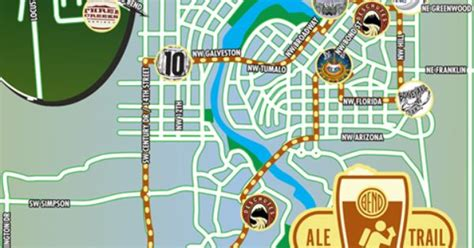 map of oregon breweries the bend ale trail map the bend ale trail