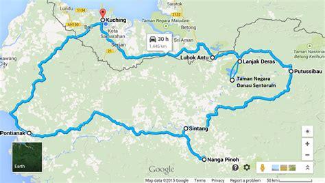 pontianak map pontianak to nanga pinoh west kalimantan barat indonesia