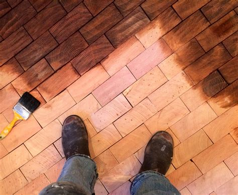 Cut Floors by Before After Cartolina S End Grain Block Flooring