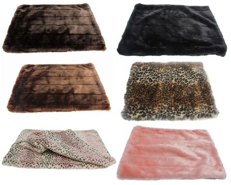 fur dog bed faux fur luxury dog mat beds at glamourmutt com