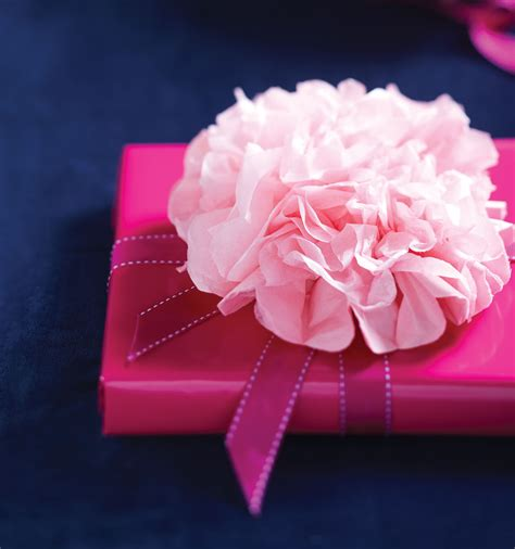 How To Make A Flower Out Of Wrapping Paper - how to make a beautiful floral tissue paper bow