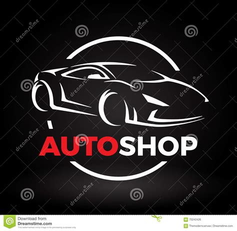 supercar logos concept car with supercar sports vehicle silhouette