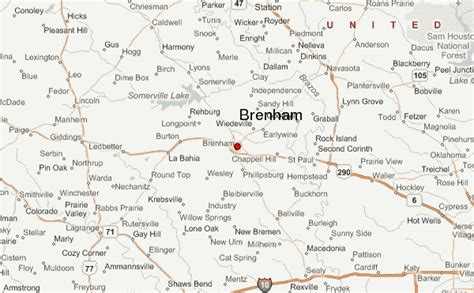 map of brenham texas gu 237 a urbano de brenham