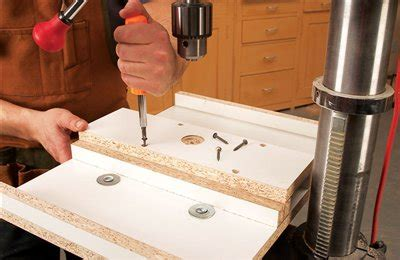 sliding drill press table popular woodworking magazine