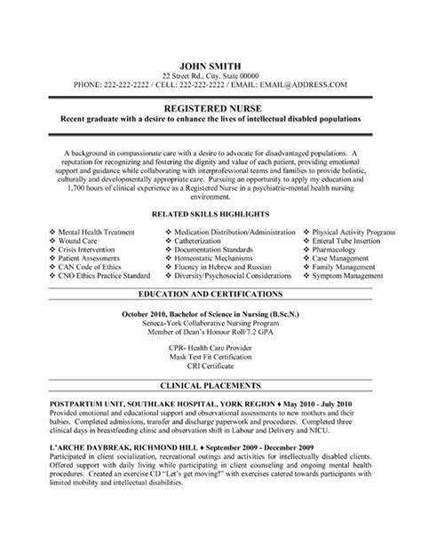 Registered Nurse Resume Template   Premium Resume Samples