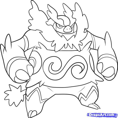 pokemon coloring pages pignite how to draw emboar step by step pokemon characters