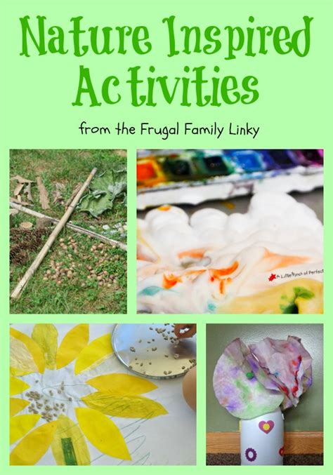 nature themed events frugal activities inspired by nature crafty kids at home
