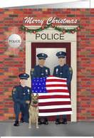 christmas cards   police officer  greeting card universe