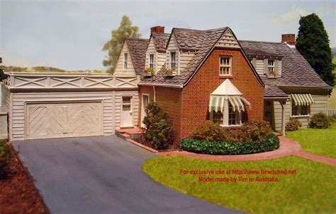 bewitched house handmade model of bewitched house house plans