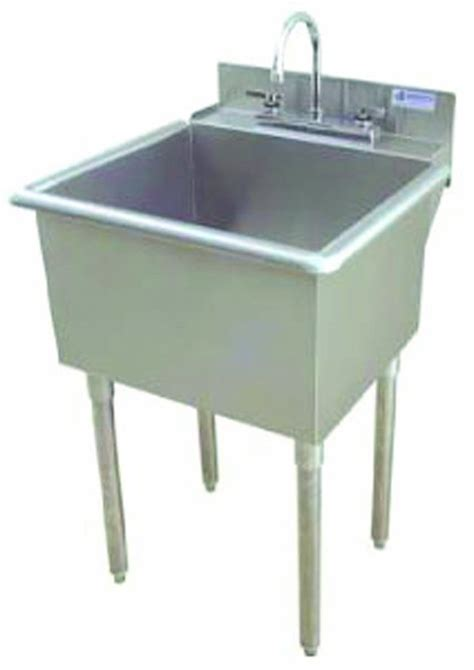 Stainless Steel Laundry Room Sink Griffin Lt 118 Utility Sink With Drain Stainless Steel Utility Sinks With Legs
