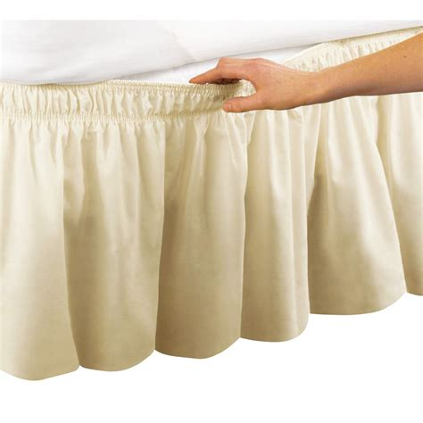 beige bed skirt beige ruffle wrap around bed skirt with 18 inch drop