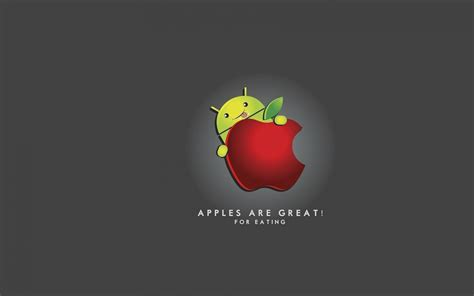 wallpaper android apple android eating apple walldevil