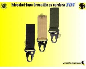 Crocodile Cordura operazioni speciali moschettone crocodile su cordura