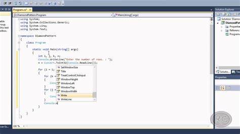 pattern xlsolid visual basic create diamond pattern using for loop in c youtube