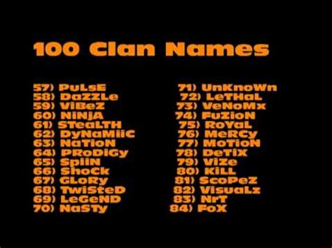 fortnite youtuber names 100 clan name ideas