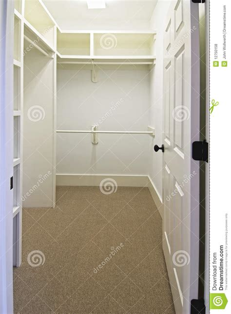 large empty walk  closet stock photo image  closet