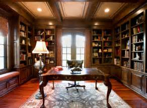 house plan classic home library design ideas