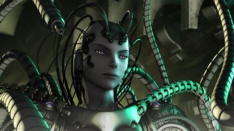 ex machina asian robot overlooking japanese anime
