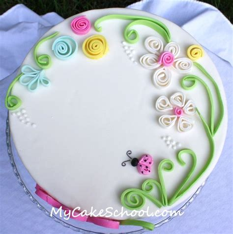 Tutorial For Quilling Fondant | quilling with fondant on cake tutorials pinterest