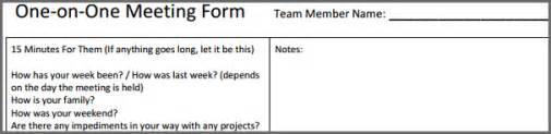 One One One Meeting Template by One On One Meeting Template Bidproposalform