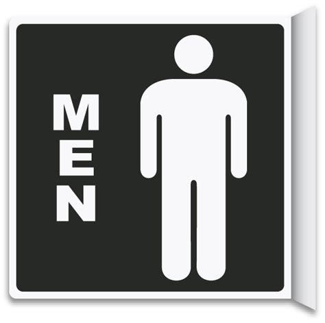 bathroom door sign 2 way men restroom sign by safetysign com t4334