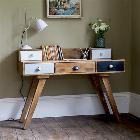 Vintage Desk Ideas Milligan Retro Multi Draw Desk