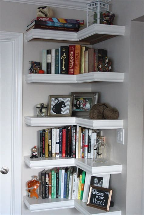 books for decorating shelves 15 ways to diy creative corner shelves