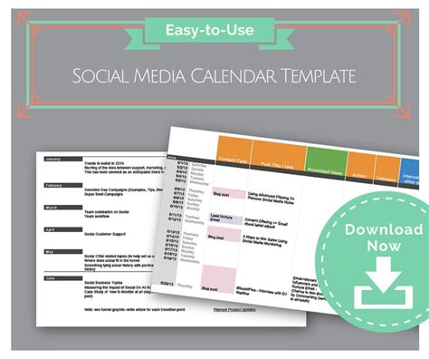 Best Social Media Calendar Template