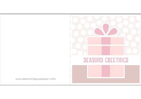Paper Wishes Card Templates by Seasons Greetings Card With Present Template Free