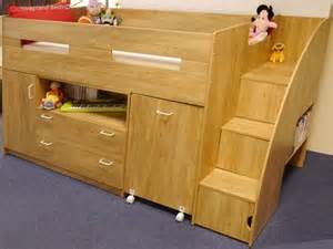 oak or white supreme midsleeper beds cabin bed desk