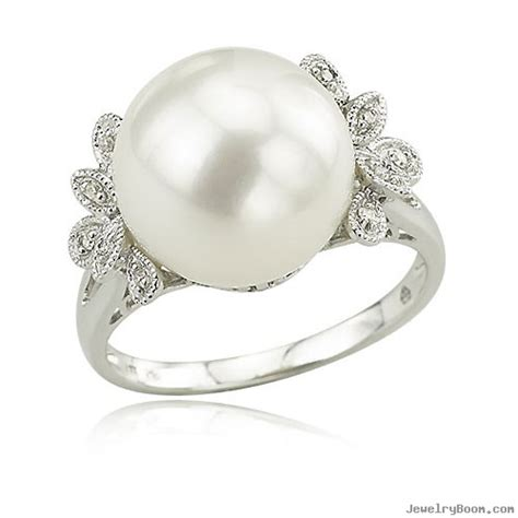 14k white gold fancy shapes freshwater pearl