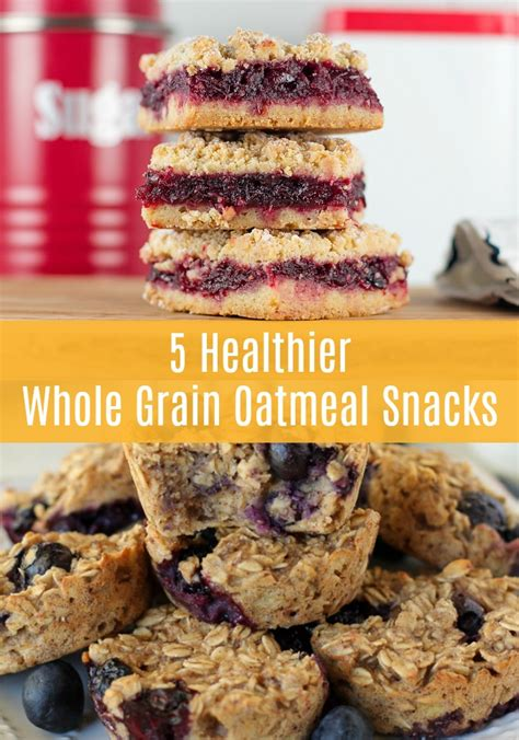 whole grains snacks 5 healthier whole grain oatmeal snacks sofabfood