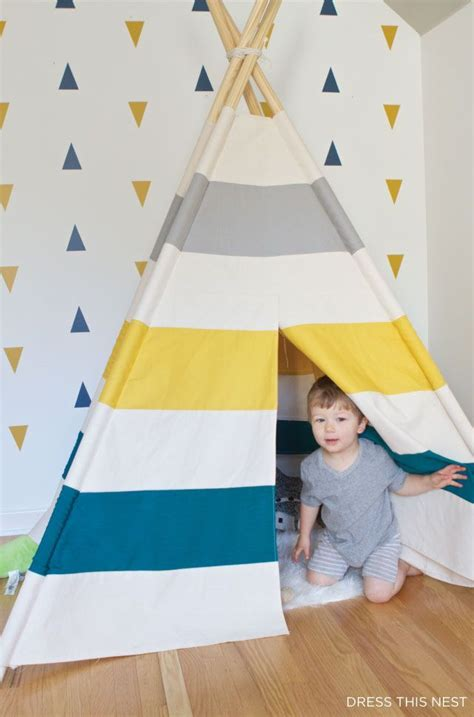 How To Make Teepee Out Of Paper - i made a teepee for my sons room inspired by land of nod