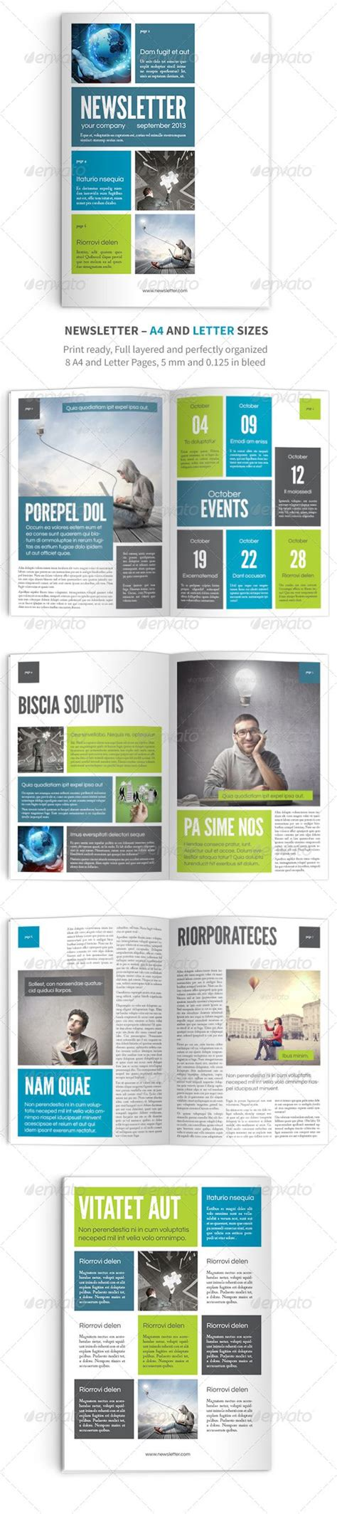 newsletter vol 9 indesign template graphicriver